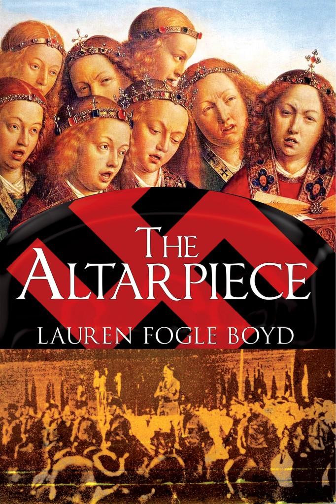 The Altarpiece by Lauren Fogle Boyd, cover by Guilherme Condeixa